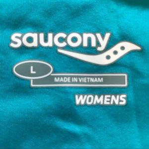 Saucony Tops - Saucony Velo Print Tank in River/Firecracker.